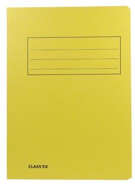 Class'ex dossiermap, 3 kleppen ft 23,7 x 34,7 cm (voor ft folio), geel