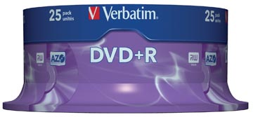 Verbatim DVD recordable DVD+R, spindel van 25 stuks