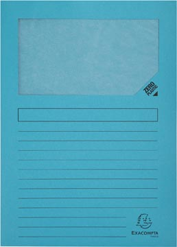 Exacompta L-map met venster Forever, pak van 100 stuks, lichtblauw