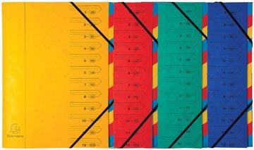 Exacompta Sorteermap 12-delig, geassorteerde kleuren