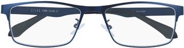 SILAC Blue Metal leesbril, mat nickelvrij blauw metaal, +2,50