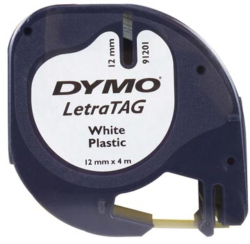 Dymo LetraTAG tape 12 mm, plastic wit