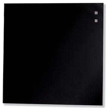 Naga magnetisch glasbord, zwart, ft 35 x 35 cm